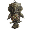 Iron Pendant With Crystal Beads. Fashion Jewelry findings. Lead-free. Animal 52x84mm Sold by Bag