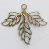 Iron Pendant With Crystal Beads. Fashion Jewelry findings. Lead-free. 50x44mm Sold by Bag