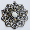 Iron Pendant With Resin Beads. Fashion Jewelry findings. Lead-free. 65mm Sold by Bag