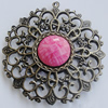 Iron Pendant With Resin Beads. Fashion Jewelry findings. Lead-free. 60mm Sold by Bag