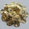 Iron Cabochons With Crystal Beads. Fashion jewelry findings. Lead-free. Flower 57mm Sold by Bag