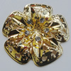 Iron Cabochons With Crystal Beads. Fashion jewelry findings. Lead-free. Flower 47mm Sold by Bag