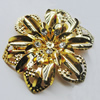Iron Cabochons With Crystal Beads. Fashion jewelry findings. Lead-free. Flower 55mm Sold by Bag