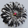 Iron Cabochons With Crystal Beads. Fashion Jewelry Findings. Lead-free. Flower 36mm. Sold by Bag