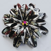 Iron Cabochons With Crystal Beads. Fashion Jewelry Findings. Lead-free. Flower 46mm. Sold by Bag
