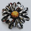 Iron Cabochons With Resin Beads. Fashion Jewelry Findings. Lead-free. Flower 46mm. Sold by Bag