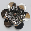 Iron Cabochons With Crystal Beads. Fashion Jewelry Findings. Lead-free. Flower 50mm. Sold by Bag
