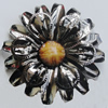 Iron Cabochons With Resin Beads. Fashion Jewelry Findings. Lead-free. Flower 47mm. Sold by Bag