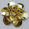 Iron Cabochons. Fashion Jewelry Findings. Lead-free. Flower 50mm. Sold by Bag