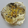 Iron Cabochons. Fashion Jewelry Findings. Lead-free. Flower 47mm. Sold by Bag