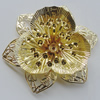 Iron Cabochons. Fashion Jewelry Findings. Lead-free. Flower 52mm. Sold by Bag