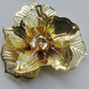 Iron Cabochons. Fashion Jewelry Findings. Lead-free. Flower 48mm. Sold by Bag
