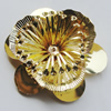 Iron Cabochons. Fashion Jewelry Findings. Lead-free. Flower 45mm. Sold by Bag