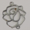 Iron Connector. Fashion Jewelry Findings. Lead-free. Flower 13x15mm. Sold by Bag