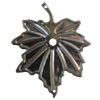 Iron Connector. Fashion Jewelry Findings. Lead-free. Leaf 39x48mm. Sold by Bag