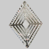 Iron Connector. Fashion Jewelry Findings. Lead-free. Diamond 69x49mm. Sold by Bag