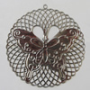 Iron Pendant. Fashion Jewelry Findings. Lead-free. 64mm Sold by Bag