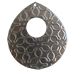 Iron Pendant. Fashion Jewelry Findings. Lead-free. Teardrop 48x54mm Sold by Bag