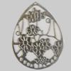 Iron Pendant. Fashion Jewelry Findings. Lead-free. Teardrop 50x62mm Sold by Bag