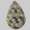 Iron Pendant. Fashion Jewelry Findings. Lead-free. Teardrop 24x35mm Sold by Bag