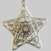 Iron Pendant. Fashion Jewelry Findings. Lead-free. Star 40mm Sold by Bag