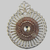 Iron Pendant. Fashion Jewelry Findings. Lead-free. 43x50mm Sold by Bag