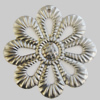 Iron Pendant. Fashion Jewelry Findings. Lead-free. Flower 44mm Sold by Bag
