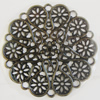 Iron Cabochons. Fashion Jewelry Findings. Lead-free. 50mm Sold by Bag
