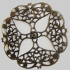 Iron Cabochons. Fashion Jewelry Findings. Lead-free. 63mm Sold by Bag