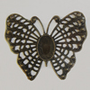 Iron Cabochons. Fashion Jewelry Findings. Lead-free. 48x40mm Sold by Bag