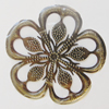 Iron Pendant. Fashion Jewelry Findings. Lead-free. Flower 52mm Sold by Bag