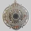 Iron Pendant. Fashion Jewelry Findings. Lead-free. 68x73mm Sold by Bag