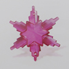 Transparent Acrylic Connector. Fashion Jewelry Findings. Flower 42x38mm Sold by Bag