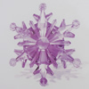 Transparent Acrylic Connector. Fashion Jewelry Findings. Flower 100mm Sold by Bag