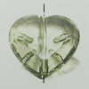 Transparent Acrylic Beads. Fashion Jewelry Findings. Heart 25x27mm Sold by Bag