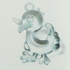 Transparent Acrylic Pendant. Fashion Jewelry Findings. Animal 31x40mm Sold by Bag