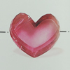 Transparent Acrylic Beads. Fashion Jewelry Findings. Heart 27x22mm Sold by Bag