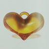 Transparent Acrylic Pendant. Fashion Jewelry Findings. Heart 25x36mm Sold by Bag