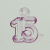 Transparent Acrylic Pendant. Fashion Jewelry Findings. 16x20mm Sold by Bag