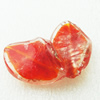 Gold Foil Lampwork Beads, acrospire 29x20mm,4mm Hole: About 2mm, Sold by PC