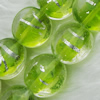 Silver Foil Lampwork Beads, oblate 15mm,9mm Hole:Approx 2mm, Sold by PC