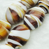Hand-Made Lampwork Beads, oblate 17.5x20mm,10mm Hole:About 2mm, Sold by PC