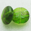Hand-Made Lampwork Beads, oblate 20mm,9.5mm Hole:About 2mm, Sold by PC