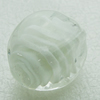 Hand-Made Lampwork Beads, cubical 25x18mm Hole:About 2mm, Sold by PC
