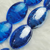 Hand-Made Lampwork Beads, oval 17x23mm,9mm Hole:About 2mm, Sold by PC