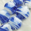 Hand-Made Lampwork Beads, oblate 17mm,9mm Hole:About 2mm, Sold by PC