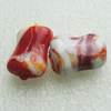 Hand-Made Lampwork Beads, rectangle 20x15mm,8mm Hole:About 2mm, Sold by PC