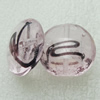 Silver Foil Lampwork Beads, oblate 20mm,10mm Hole:Approx 2mm, Sold by PC