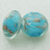 Gold Foil Lampwork Beads, Round 20mm,thickness10mm Hole: About 2mm, Sold by PC