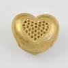 Brass European Box,Lead-free, Heart,  21x18x12mm, Sold by Bag